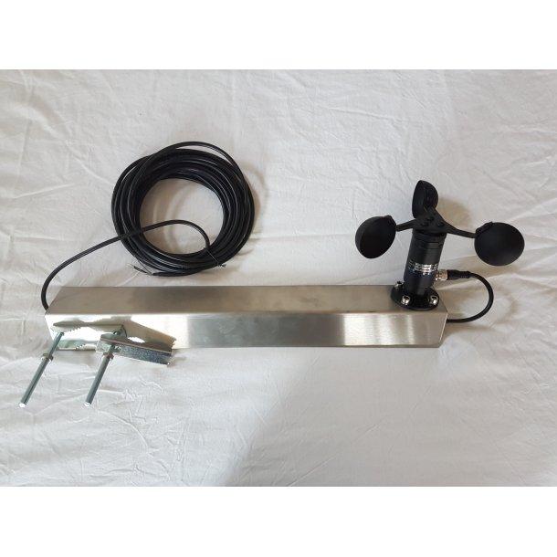 Mastebeslag for vindhastighedog retnings,-sensor (vist med sensor)