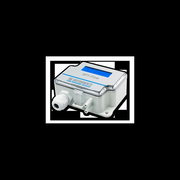 DPT-Flow er en flow transmitter  2000pa med display og auto zero