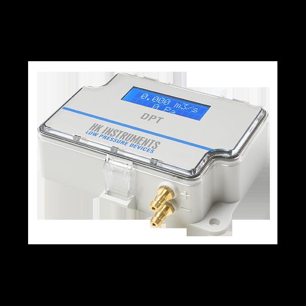 DPT-Flow-Batt  til lokal flow visning 7000Pa med display og 9V batteri.
