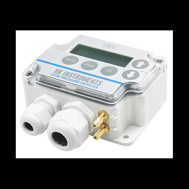 DPI-serien elektroniske tryktransmitter og pressostat m/ 1 relæ   +/-500Pa