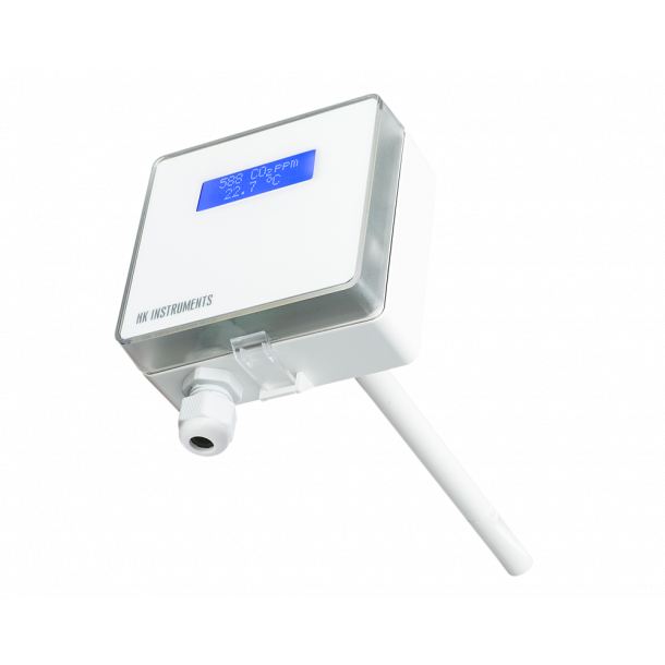 CDT2000 Kanal CO2 Temp sensor  0 til 10Vdc (UDEN DISPLAY)